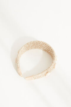 Womensecret Natural raffia shells headband nude