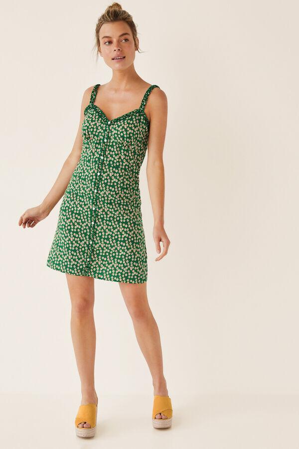 209e53614 Womensecret Vestido corto botones margaritas estampado