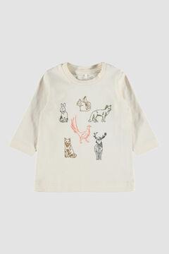 Womensecret Camiseta de bebé manga larga blanco