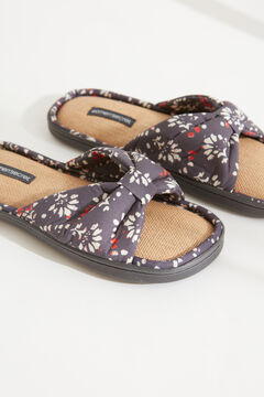 Womensecret Blue printed slippers blue