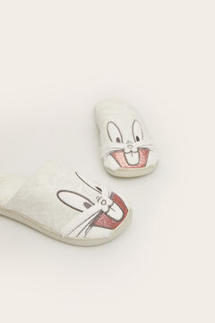 Womensecret Bugs Bunny mule slipper grey