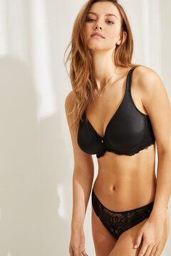 Womensecret REAL Black underwired minimiser bra black