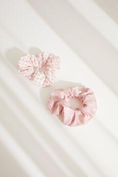 Womensecret Lot de chouchous petits carreaux Vichy et cœurs rose