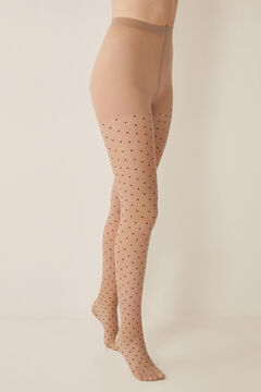 Womensecret Basic plumetis tights nude