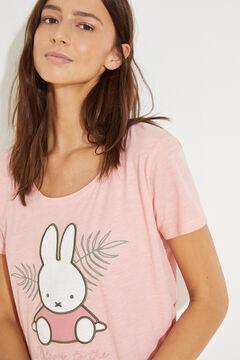 Womensecret Cotton short-sleeved Miffy Capri pyjamas pink