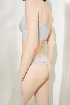 Womensecret String sans coutures gris gris