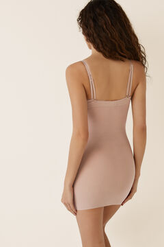 Womensecret Figurformendes Shaping-Kleid aus Tüll Nude