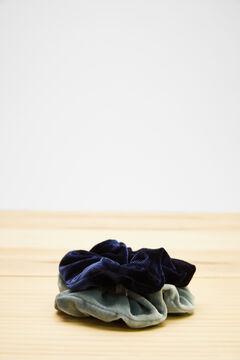 Womensecret Pack of 2 velvet scrunchies  blue