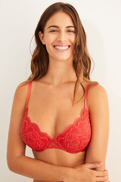 Womensecret Classic lace padded bra red