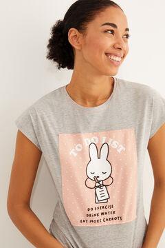 Womensecret Pijama comprido Miffy algodão  cinzento