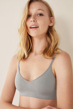 "Womensecret Top liso sin costuras ""my first bra"" gris"