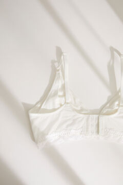 Womensecret NATURAL White triangle Maternity bra white