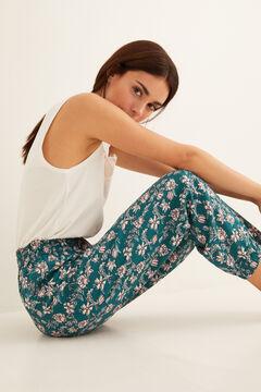 Womensecret Long printed pyjama bottoms green