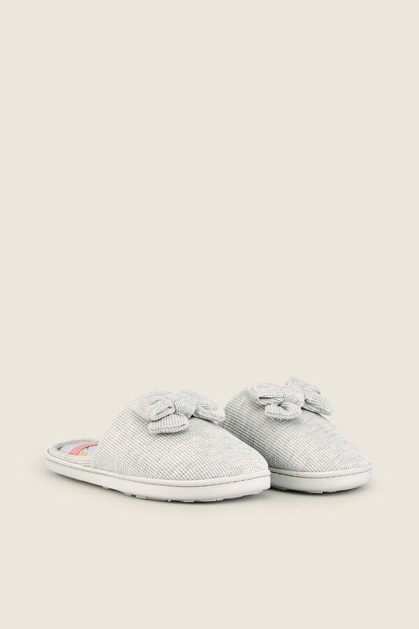 fe6b45f0a8 Womensecret Zapatillas casa de tela con lacito gris