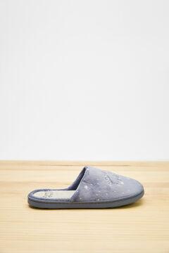 Womensecret Zapatillas destalonadas velour Triki 3D azul