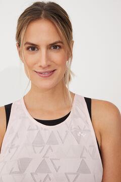 Womensecret Camiseta entrenamiento sin mangas rosa
