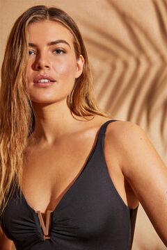 Womensecret V-neck EXTRA SUPPORT swimsuit  black