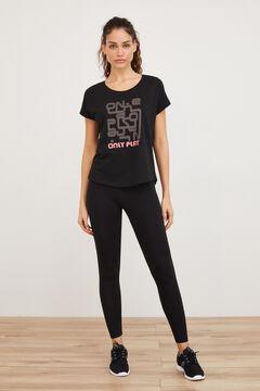 Womensecret Top deportivo 100% algodón negro