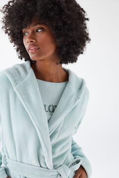 Womensecret Robe de chambre fourrure verte vert