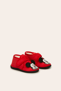 Womensecret Kids slipper boots with Mickey patch red