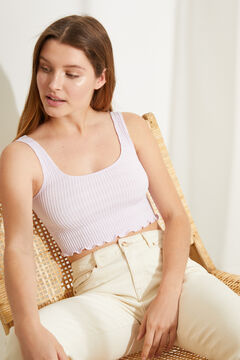 Womensecret Seam-free strappy lilac top pink