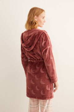 Womensecret Maroon moon fleece robe  pink