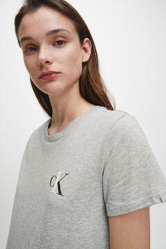 Womensecret Calvin Klein cotton nightgown with logo gris