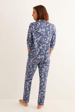Womensecret Floral print navy classic pyjamas blue