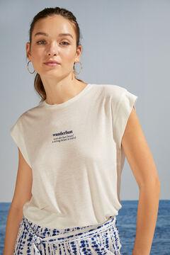 Womensecret Camiseta manga corta blanco gris