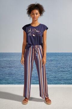 Womensecret T-shirt manches courtes maille coton bleu bleu