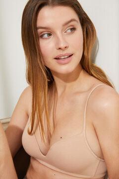 Womensecret Organic cotton triangle bra nude