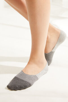Womensecret Grey cotton no-show socks grey