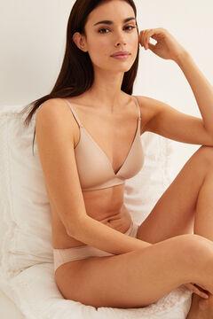 Womensecret Sujetador triangular sin aros y sin relleno nude