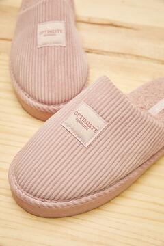 Womensecret Pink velveteen slippers pink