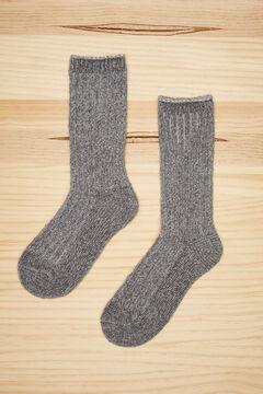 Womensecret Grey chenille socks grey