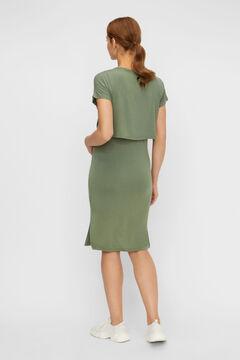 Womensecret Midi maternity dress green