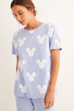Womensecret Pyjama long manches courtes Mickey bleu