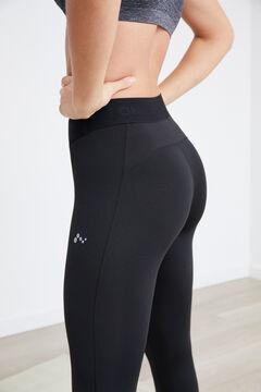 Womensecret Legging cinturilla elástica logo negro