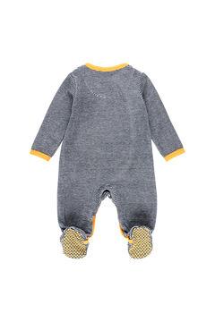 Womensecret Pelele terciopelo listado de bebé azul