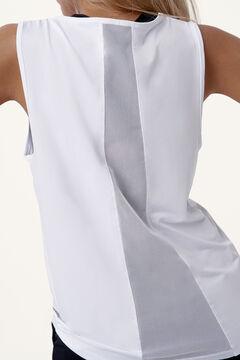 Womensecret Camiseta Mesh White blanco