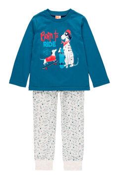 Womensecret Pijama malha combinado para menino - Algodão orgânico azul