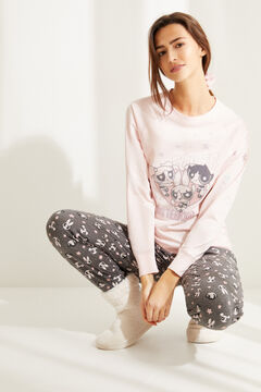Womensecret Pijama manga comprida Powerpuff Girls rosa rosa