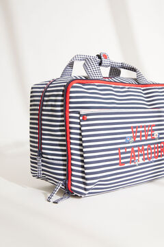 Womensecret Medium sailor stripes hanging vanity case blue