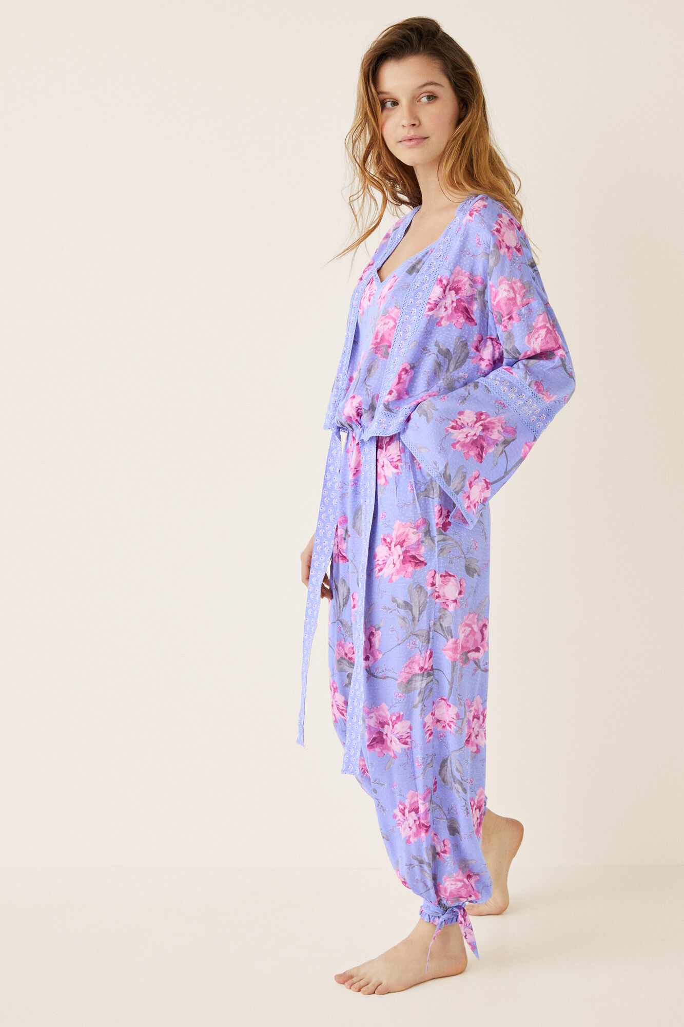 c410830d25bf Long floral jumpsuit and bolero set