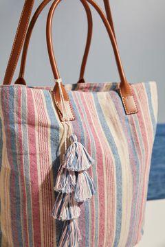 Womensecret Striped bag  white