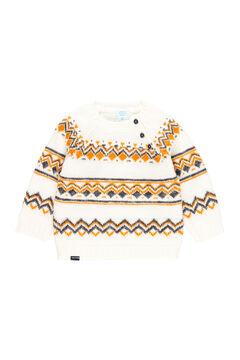 """Womensecret Pullover tricot """"ornamentos"""" para o bebê menino branco"""