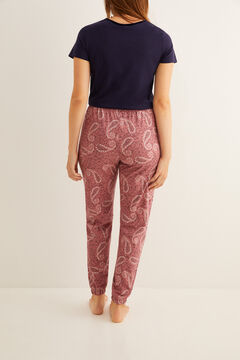 Womensecret Long paisley print pyjama bottoms pink
