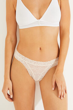 Womensecret Classic lace panty pink