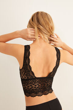 Womensecret Lace triangle bralette black