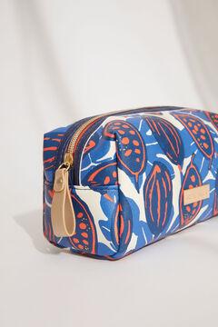 Womensecret Medium printed rectangular vanity case blue